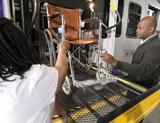 CARE offers curb-to-curb transportation for individuals with disabilities